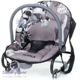 Leżaczek Jungle 4baby GREY