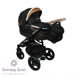 Wózek COTO BABY 2W1 APRILIA 2w1 BLACK-BROWN ECO 01