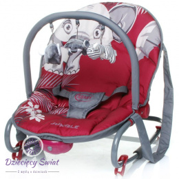 Leżaczek Jungle 4baby RED